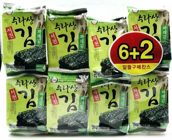 Surasang Seasoned Seaweed - 8 pack
