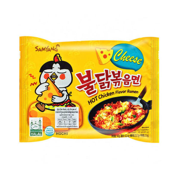 Samyang Stir-Fried Noodle Hot Spicy Chicken Cheese Flavor Ramen