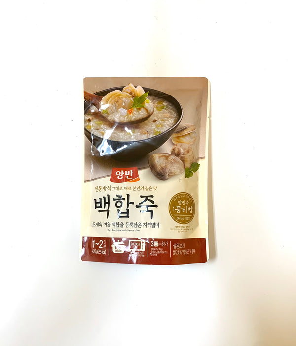 Dong Won Premium Rice Porridge with Cooked Clam Meat