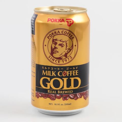 Pokka Coffee Milk Gold Real Brewed- 300ml/10.1FLoz