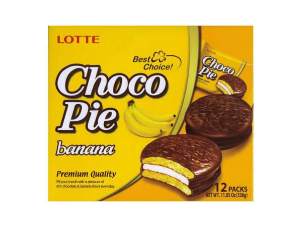 Lotte Choco Pie Banana - 12 Pack - 336g/11.85oz