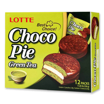 Lotte Choco Pie Grean Tea - 12 Pack