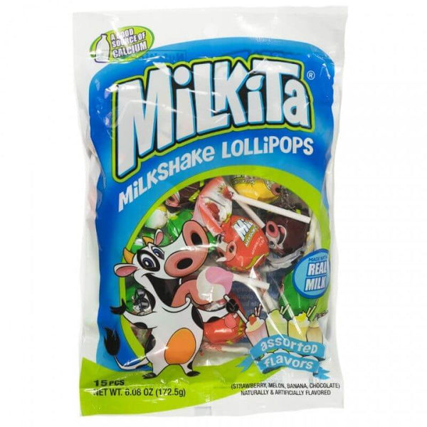 Milkita Creamy Shake Lollipop Assorted - 15Pcs