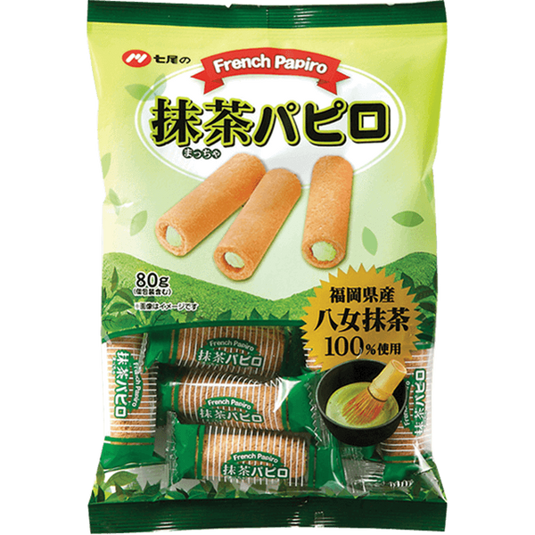 Nanao Confectionary  French Papiro Cookie with Green Tea - 80g