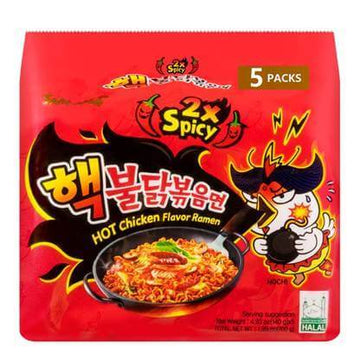 Samyang 2x Hot Chicken Flavor Ramen - 5 Pack