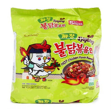 Samyang Jjajang Hot Chicken Flavored Ramen - 5 Pack