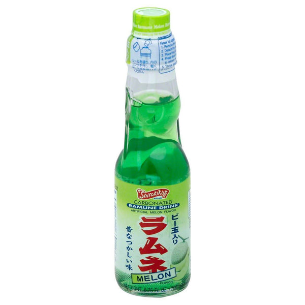 Shirakiku Carbonated Ramune Drink Melon