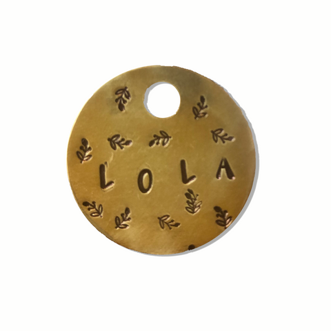 Dainty Leaf Pet ID Tag