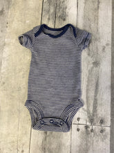 Load image into Gallery viewer, Size Preemie Blue Striped Carter's Onesie