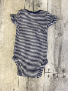 Size Preemie Blue Striped Carter's Onesie