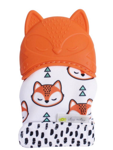 Fox Silicone Teething Mitts - OodlesCB
