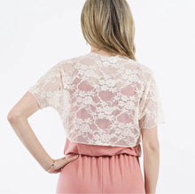 Load image into Gallery viewer, White 42pops Lace Bolero Cardigan
