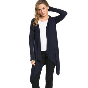 Navy Azules Hooded Cardigan