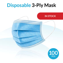 Load image into Gallery viewer, Disposable Breathable 3-Ply Mask - 100 Pack