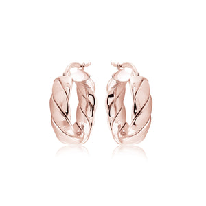14K RoseGold Vermeil Small Chanel Hoops