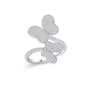 Sterling Silver Butterfly with cubic Zirconias