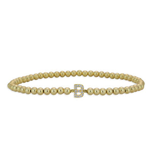 3mm 14K Gold Filled Initial Bracelet