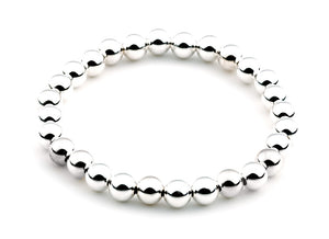 6mm Classic Beaded Bracelet