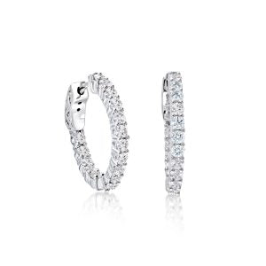 White CZ Large Hoops