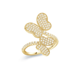 14K Gold Vermeil Butterfly with Cubic Zirconias