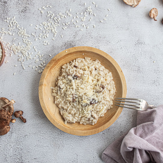 A soothing supper: Mushroom risotto