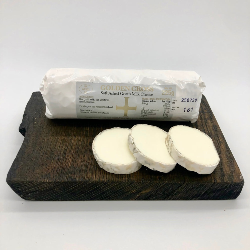 Golden Cross Ashed Goat's Milk Cheese