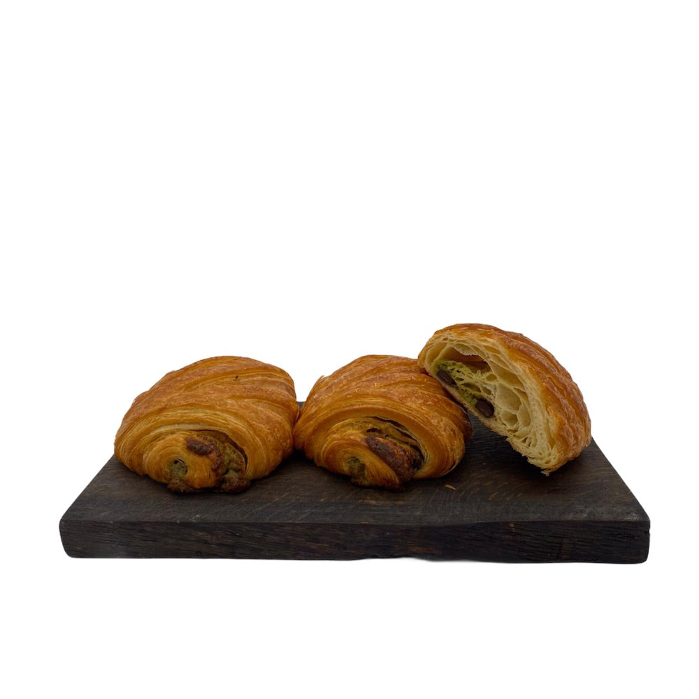 Load image into Gallery viewer, Pistachio Pain au Chocolat Croissant