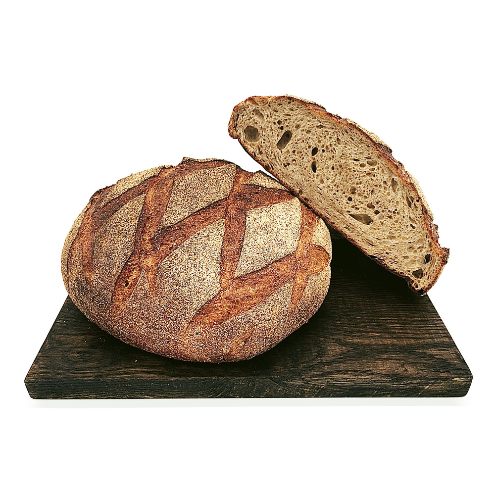 Load image into Gallery viewer, Medium Rye Sourdough Half Loaf 500g