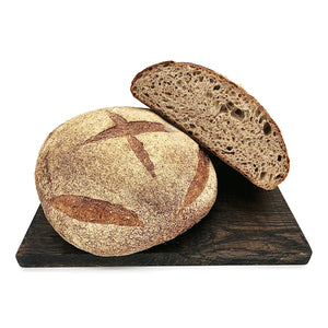 Load image into Gallery viewer, Wholewheat Sourdough Half Loaf 500g