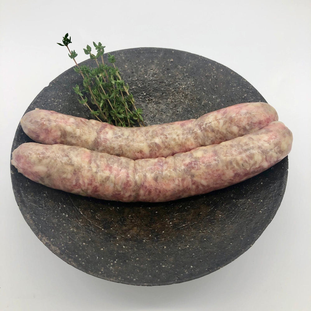 Load image into Gallery viewer, Hathor Farm Mangalitsa and Highland Longhorn Big Ones Sausages