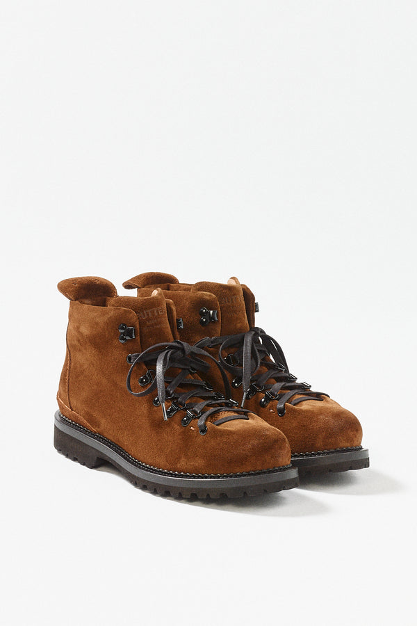 Snuff Leather Lace-Up Boot