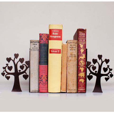 Bronze Love Tree Metal Bookend Set
