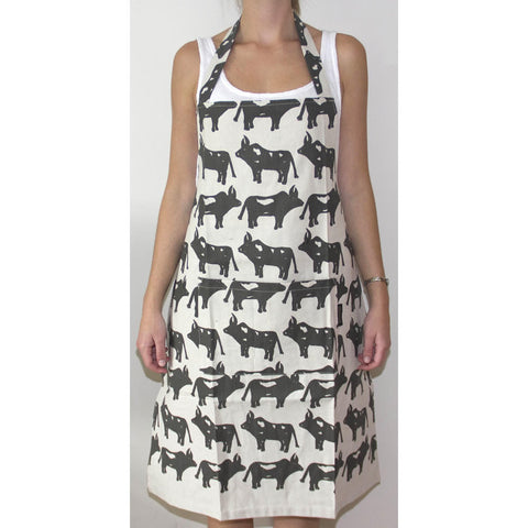 Brown African Cow Handmade Tie - Back Apron