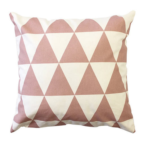 Pink Triangle Handmade Cotton Cushion Cover