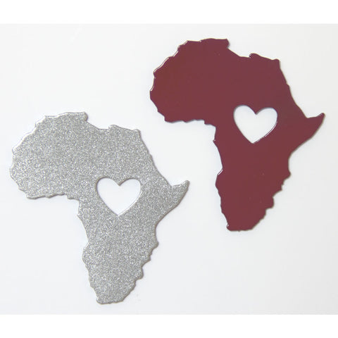 Heart of Africa Metal Decorative Magnet