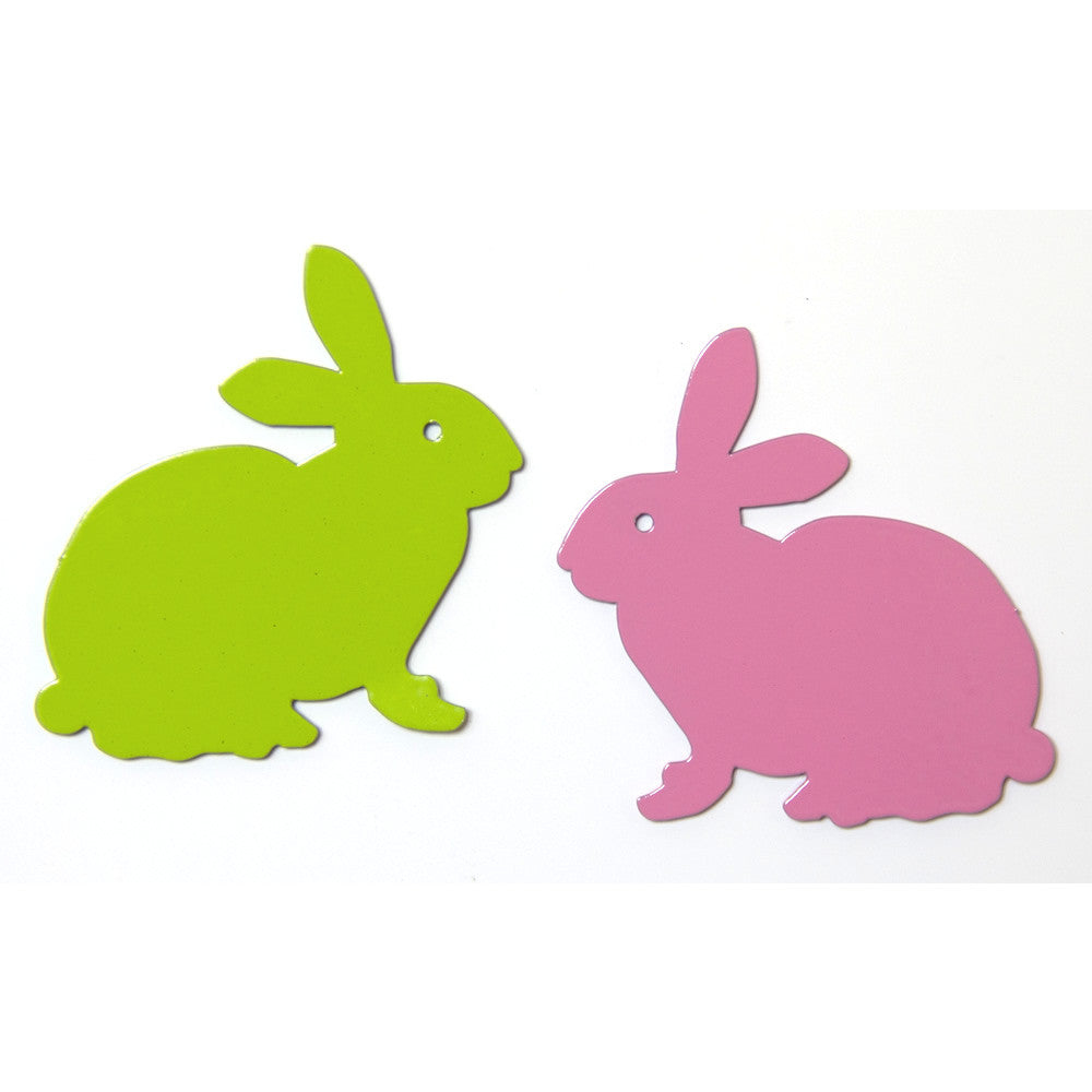 Sitting bunny metal decorative magnet
