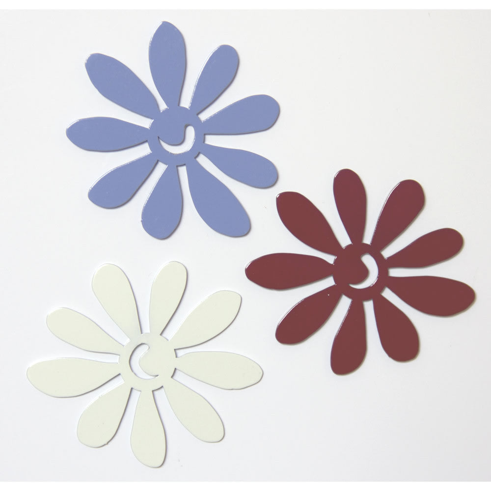 Daisy flower metal decorative magnet