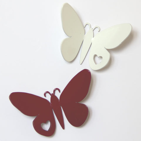 Heart Butterfly Metal Decorative Magnet