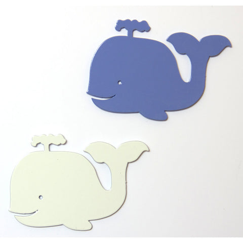 Happy Whales Metal Decorative Magnet