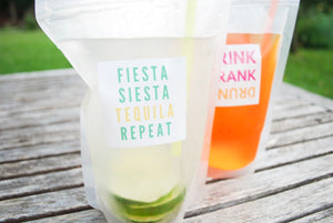 Fiesta, Siesta, Tequila, Repeat - Set of 12 Pouches & Straws