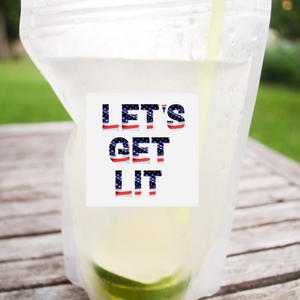 Let's Get Lit - Set of 12 Pouches & Straws