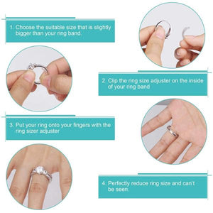 Bling+ Self-Adjusting Ring Sizer (8 PCS)