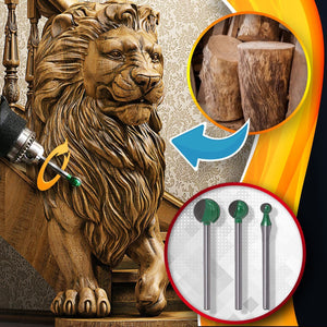 [PROMO 30% OFF] PowerCarve Spherical Wood Carving Bits