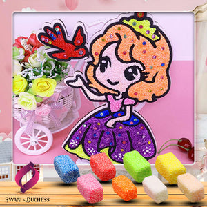 3DArt Glittery Foam Clay Paint Kit