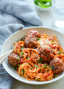 Spaghetti and Meatballs | Texas Toast | Fresh Fruit Salad