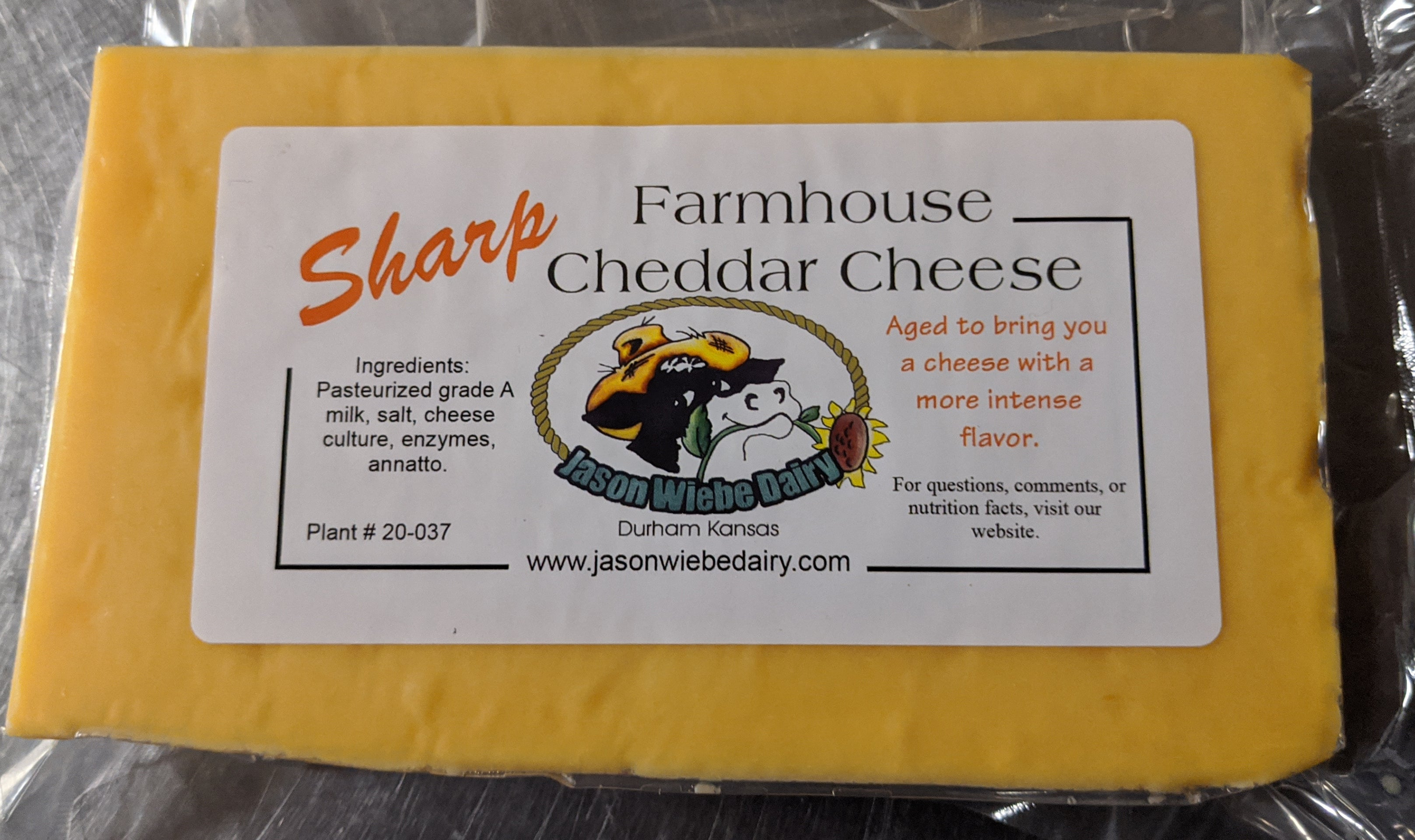 Jason Wiebe Dairy - Farm Fresh Cheese -  (4) 1lb Block Bundle