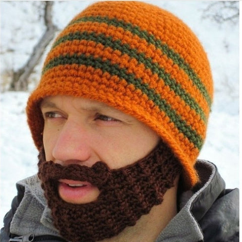 Hand Knitted Beard Hat