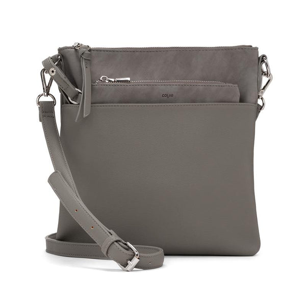 CROSS BODY HANDBAG - DOVE GREY