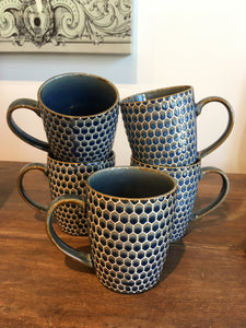HONEYCOMB MUG - NAVY