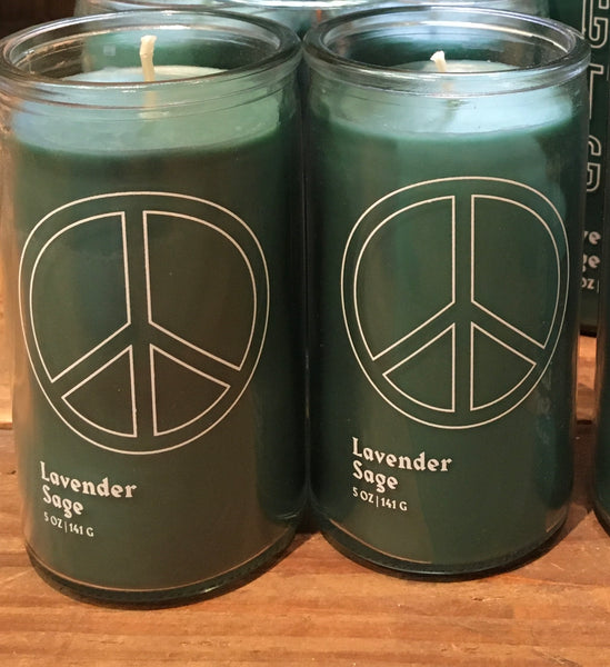PEACE SOY CANDLE - LAVENDER SAGE